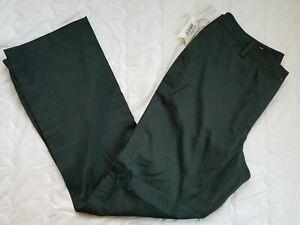 1 NWT CUTTER & BUCK ANNIKA WOMEN'S PANTS, SIZE: 14, COLOR: DARK GREEN (J169)