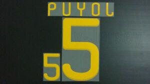 CARLES PUYOL #5 Spain Home & Away World Cup 2010 Name Set