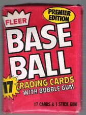 2 (two) 1981 FLEER BASEBALL PACK