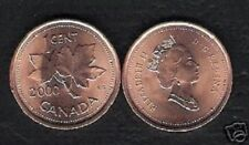 CANADA 1 CENT KM-289 2000-2001 x 1000 Pcs Lot LEAF MILLENNIUM QUEEN UNC COIN