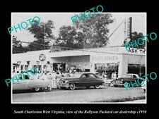 6x4 HISTORIC PHOTO OF SOUTH CHARLESTON WEST VIRGINIA THE PACKARD CAR STORE 1950