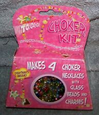 THE BEAD SHOP TO GO GO CHOKER KIT JEWELRY KIT AGES 4+ MAKES 4 CHOKERS
