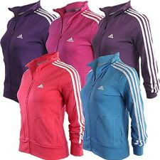 Adidas Essentials 3S women's tracktop sports jacket 5 colours NEW