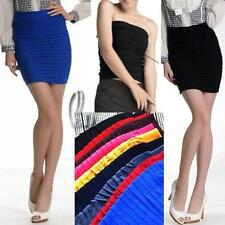 Polyester Solid Petite Skirts for Women