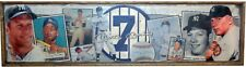 Antique Style Mickey Mantle Baseball Wooden Sign Yankees 1952 Topps
