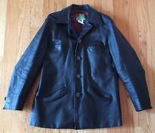Diesel Men's Leather Blazer Jacket Coat Lined. Size Medium. Black. Stylish.