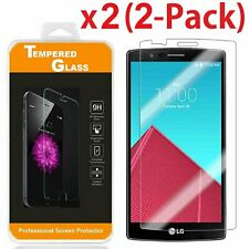2 Pack Premium Real Tempered Glass Ultra Thin Clear Screen Protector for LG G4