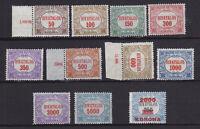 Ungarn 1922/23 Dienstmarken, Sätze postfrisch