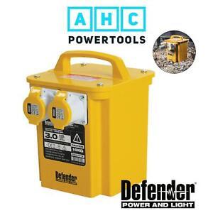 Defender 3kVA Transformer 2x 16A 110V Outlets - E203010