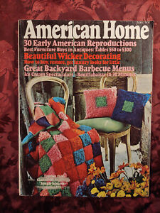AMERICAN HOME Magazine June 1974 Crochet Decorating Home Repair Cooking