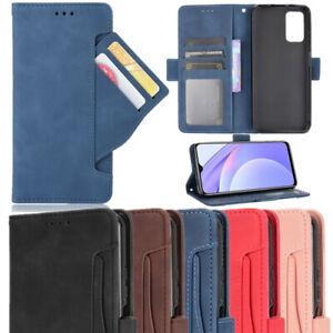 For Xiaomi Mi 11 10 Redmi 9T Leather Flip Wallet Card Slot Pocket Case Cover