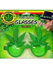 Cannabis Green Adult Weed Marijuana Leaf Costume Sunglasses