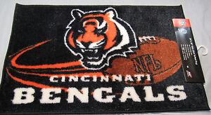 "NFL Cincinnati Bengals Rug/Mat 20""x30"" Flying Ball by Northwest"
