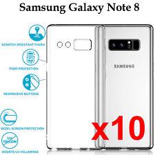 x10 Samsung Galaxy Note 8 TPU slim transparent clear bumper back case cover
