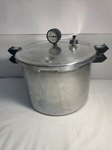 Pre-Owned Presto 16 Quart Aluminum Canner Pressure Cooker Model 0172004
