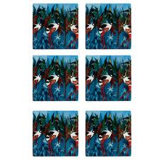 6x Maxwell & Williams Melanie Hava 10cm Tile Ceramic Drink Coaster Jabirus Blue