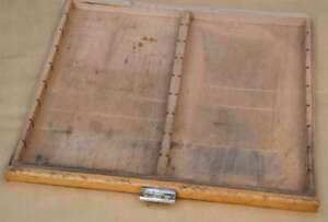 alte Schublade Druckereischublade Holz vintage shabby chic industriedesign alt!