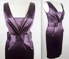 New Dolce&Gabbana sz 46 / US 8 mainline jewel purple dress belted