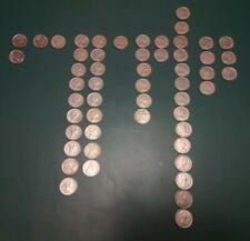 More details for vintage collection large old 5p coins 53 x elizabeth ii 1968-89 mixed joblot.