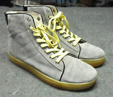 ARTISTRY California Mens Casual Gray Suede Hi-Top Shoes Size 9 US / 43 Euro NEW