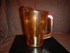 VINTAGE JEANETTE MARIGOLD IRIDESCENT GOLD CARNIVAL GLASS PITCHER 48 OZ