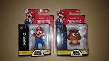 World of Nintendo Super Mario And GOOMBA 4 in Figure Series 1-3 Jakks Coin NES