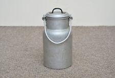 Vintage old aluminium milk churn milk can milkchurn milk pot / - Free Postage