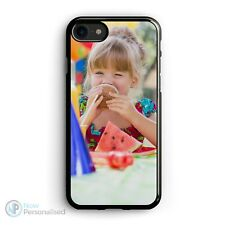 PHONE CASE COVER FITS IPHONE 7 / 8 PERSONALISED WITH YOUR PHOTO - BLACK