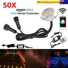 50X Smart WIFI Controller 12V 31mm Yard LED Pool Deck Step Kitchen Lights Timer
