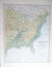 1906 Eastern Us States from Maine to Florida to Minnesota to Texas to Illinois