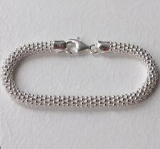"""Italienische Sterling Silber Popcorn Armband, 6mm breit, Länge 7 1/2"""""""