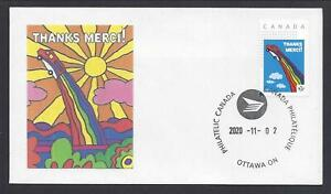 2020 Canada Post Thanks-Merci to Employees Picture Stamp Ltd FDC