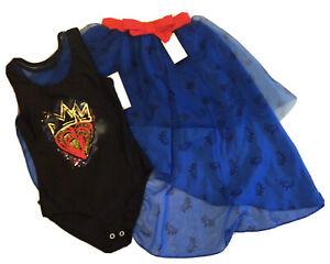 Disney Descendants 3 Evie Bridesmaid Leotard & Skirt Costume Dress up Set M(7-8)