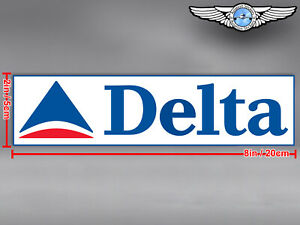 DELTA AIR LINES AIRLINES OLD RECTANGULAR LOGO DECAL / STICKER