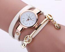 Elegante Damenuhr Uhr Damenarmbanduhr Wickelarmband Wickeluhr weiß neu