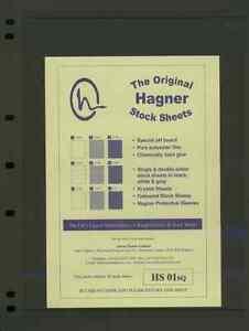 Hagner Single Sided Stamp Album Stock Pages + Hagner Binder's