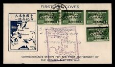 DR WHO 1942 PHILIPPINES JAPANESE OCCUPATION OVPT FDC  f28089