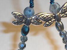 "Dragonflies~Electric Blue~Handmade~Eyeglass Chain~NEW~28"" Buy 3 SHIP FREE"