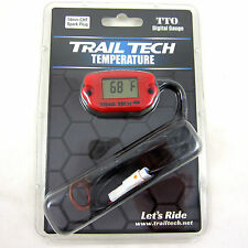 Trail Tech TTO Temperature Meter Digital Gauge 14mm Spark Sensor Red 744-ET3 NEW
