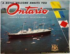 ONTARIO CANADA SOUVENIR TOURISM & TRAVEL INFORMATIONAL BROCHURE 1960 VINTAGE