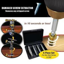 4PCS Double Side Kits Damaged Stud Drill Bolt Screw Extractor Easy Out Remover