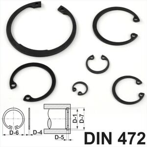 Internal Circlips Retaining Rings for Bores Sizes 8mm<60mm DIN 472 Spring Steel