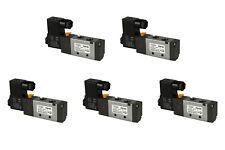 5x 110V AC Solenoid Air Pneumatic Control Valve 5 Port 4 Way 2 Position 1/4