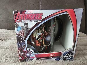 Marvel Avengers Age of Ultron Mug, Hulk, Captain America, Iron Man, Thor - NEW