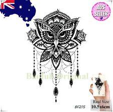 Mandala Owl Temporary Tattoo Body Art Sticker Jewel Floral Temp Tat Tatoo Bird