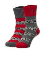 Nike Air Jordan Kids' Elephant Stripe 2 Pack Crew Socks 5Y-7Y (9-11) NWT