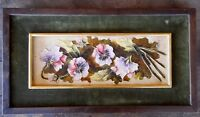 Impasto Vintage Painting Floral Flowers Picture signed ROS ? Unknown artist