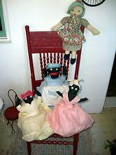 Antique Half Dolls and One Rag Doll