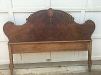 Antique Headboard - Size: Full bed - Beautiful with Inlay Details
