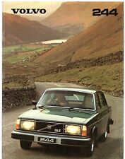Volvo 244 1979-80 UK Market Sales Brochure DL GL GLE 240-Series
